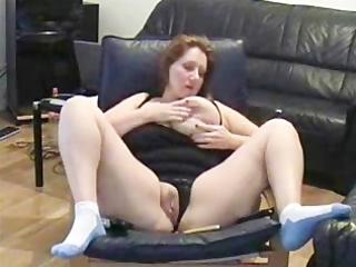 self recorded aged bitch masturbating