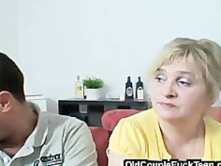 older pair seduces newlyweds