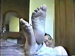 mature white footjob