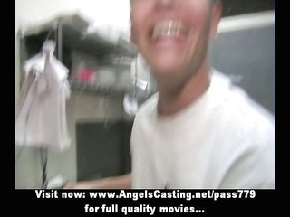 hot blonde milf does blowjob for pizza guy and