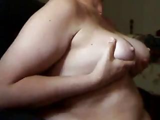 mature woman sucks jock and receives cum on her