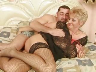 grandma enjoys good sex with her boyfriend