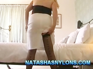 british mother i non-professional wife in nylons