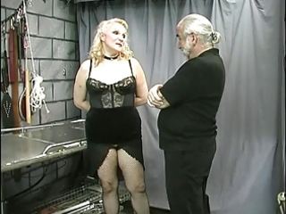 older overweight bondman teat clamped and teased