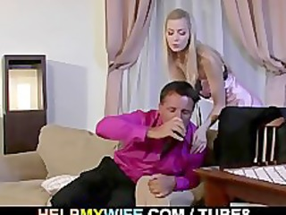 kinky lad watches his wife getting drilled