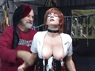 hot, mature redhead receives her love tunnel