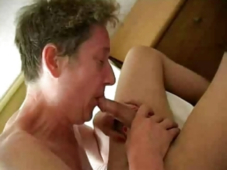 horny old granny fucks young knob and receives