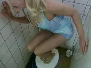 horny euro-milf bonks stranger in public bathroom
