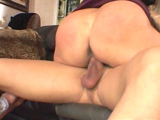 Big titted milf is glad her boyfriend came home -