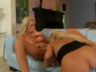 concupiscent blond lesbo milfs licking vagina and