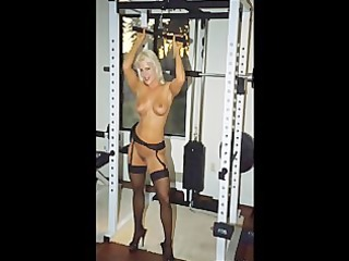 Picture Video FBB Blonde Muscle BodyBuilder Fucks
