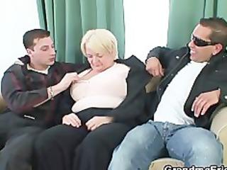 two buddies team fuck drunk old doxy