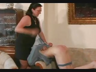 granny belts and spanks the lad pt7