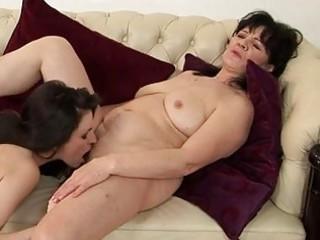 bulky brunette hair mom and juvenile hottie