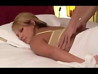non-professional blonde wife massaged by japanese
