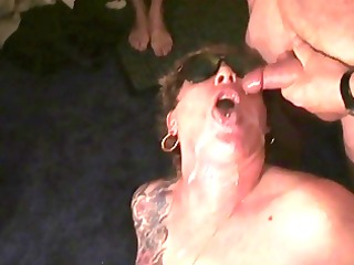 Spunk on her face! Rona takes some more. Next