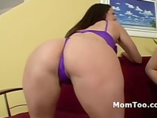 plump mother and her daughter receive willing for