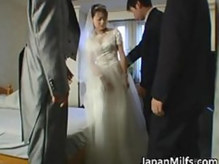 asian bride gets hardcore group fucking part0