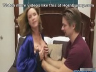 Mom wants her son to cum inside her -