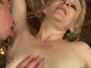 Mature milf has nasty sex with boy