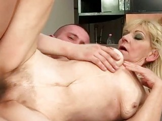 granny with hairy pussy getting drilled