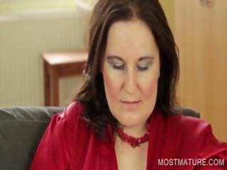 Stockinged mommy showing big boobs
