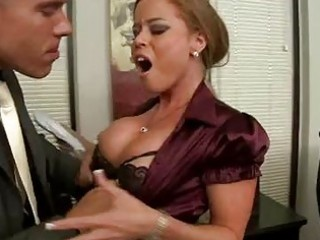 blonde milf with massive knockers receives coarse