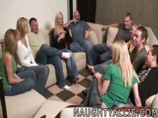 party game leads to a huge fuckfest swinger wives