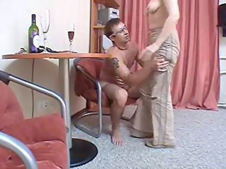 russian mama brunette hair hair mature with a