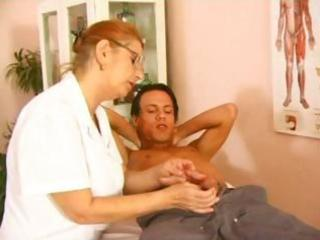 aged doctor fuck with youthful patient