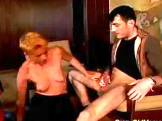 mad old mamma receives hard drilled and facial