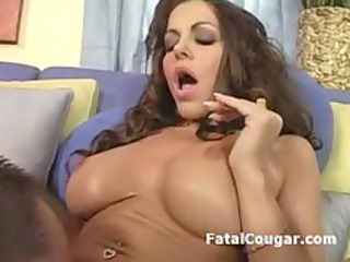 pussy licked mature housewife gives terrific blow