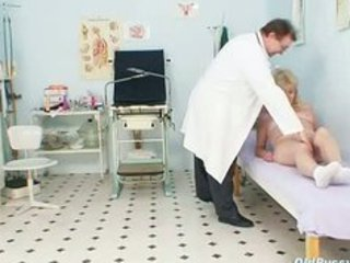 blonde grandma kinky cookie exam with enema