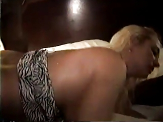 golden-haired married wife gangfucked and used