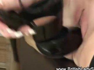 older british stocking whore fingering