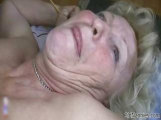 slutty old granny with massive marangos likes