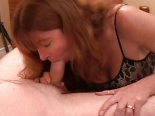 enormous chested redhead milf gives hawt oral