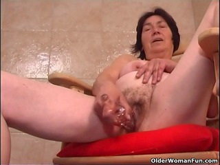 over 90 granny with shaggy bawdy cleft copulates