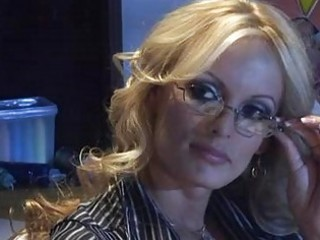 aged golden-haired teacher with massive knockers