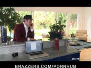 Horny big-tit brunette milf fucks big dick hard