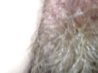 my wifes unshaved anal opening &; pussy.