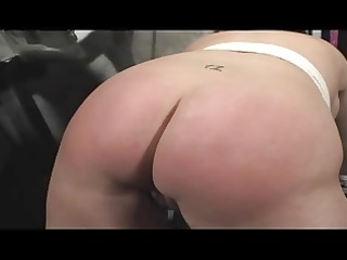 large ass spanked red