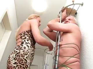dilettante golden-haired aged tugjob
