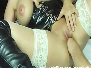 blonde wife violently fisted in her loose cum-hole