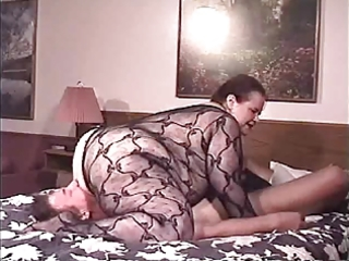 big beautiful woman mature fishnet facesitting