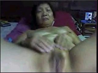 dilettante oriental granny on webcam