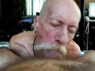 older man engulf large pecker