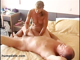 lascivious wife jerks off hubby??s ramrod