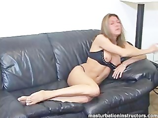 tits are exposed as jerk off teacher smokes