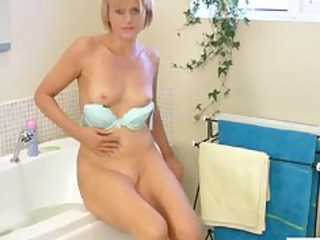 at home cougar dildo baths masturbation